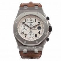 Audemars Piguet Offshore Safari Watch 44MM Automatic Brown Strap 26170ST.OO.D091CR.01 KJCXYM - Beverly Hills Watch Company Watch Store
