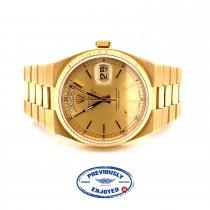 Rolex OysterQuartz 36mm Day-Date President 19018 ARH4YR - Beverly Hills Watch Company