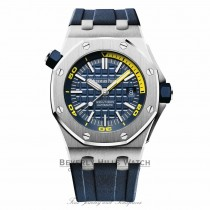 Audemars Piguet 42mm Royal Oak Offshore Diver Blue Dial 15710ST.OO.A027CA.01 7H8Q3Q - Beverly Hills Watch
