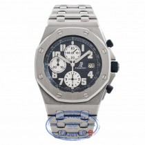 Audemars Piguet Royal Oak Offshore Blue Dial Stainless Steel Chronograph 25721ST.OO.1000ST.09.A CB4FET - Beverly Hills Watch Company Watch Store