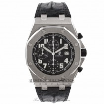 Audemars Piguet Offshore Themes Classic Black Dial Black Alligator Strap 26020ST.OO.D101CR.01 A9JTYR  - Beverly Hills Watch Company Watch Store