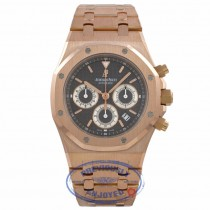 Audemars Piguet Royal Oak 39MM Chronograph Slate Dial Rose Gold Bracelet 25960OR.1185OR.03 3YF9CA - Beverly Hills Watch Company Watch Store