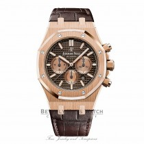 Audemars Piguet Royal Oak 41mm Rose Gold Chronograph Brown Dial  26331OR.OO.D821CR.01 TD8Z68 - Beverly Hills Watch
