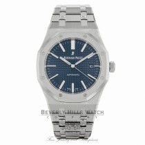 Audemars Piguet Royal Oak 41MM Stainless Steel Blue Dial on Bracelet 15400ST.OO.1220ST.03 HUHAF7 - Beverly Hills Watch Company