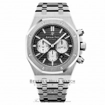 Audemars Piguet Royal Oak 41mm Stainless Steel Chronograph Black Dial 26331ST.OO.1220.ST.02 X0C2Q6 - Beverly Hills Watch