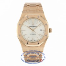 Audemars Piguet Royal Oak 41MM Rose Gold Silver Dial 15400OR.OO.1220OR.02 NPTCNC - Beverly Hills Watch Company