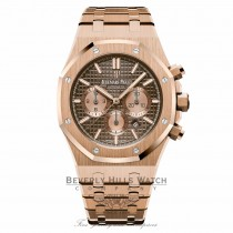 Audemars Piguet Royal Oak Chocolate Dial 18K Rose Gold 26331OR.OO.1220OR.02 LMMW1E - Beverly Hills Watch