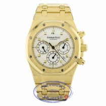 Audemars Piguet Royal Oak 39mm Chronograph Yellow Gold Silver Dial 25960BA.00.1185BA.01 XWC613 - Beverly Hills Watch