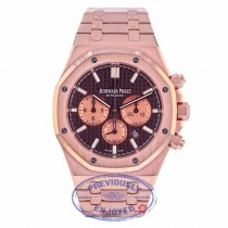 Audemars Piguet Royal Oak Chocolate Dial 18K Rose Gold 26331OR.OO.1220OR.02 PKWW5R - Beverly Hills Watch