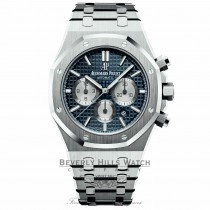 Audemars Piguet Royal Oak Chronograph 41mm Blue Grande Tapisserie 26331ST.OO.1220ST.01 N5MA81 - Beverly Hills Watch