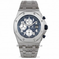 Audemars Piguet Royal Oak Offshore Chronograph Blue Dial Steel 25721ST.OO.1000ST.09.A - Beverly Hills Watch Company Watch Store
