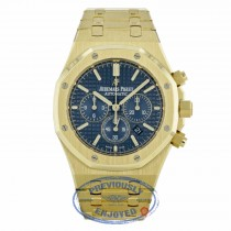 Audemars Piguet 41mm Royal Oak Blue Dial Automatic Chronograph 26320BA.OO.1220BA.02 A8YCU2 - Beverly Hills Watch