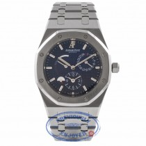 Audemars Piguet Royal Oak Dual Time 39MM Stainless Steel Blue Dial 26120ST.OO.1220ST.02 V2XM1F -  Beverly Hills Watch Store
