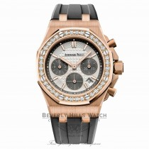 Audemars Piguet Royal Oak Offshore 37mm Rose Gold Diamond Bezel Silver Dial 26231OR.ZZ.D003CA.01 RJDR2D - Beverly Hills Watch Company