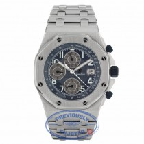 Audemars Piguet Royal Oak Offshore 44mm Stainless Steel Blue Dial 25721ST.OO.1000ST.05 4PDKXT - Beverly Hills Watch Company