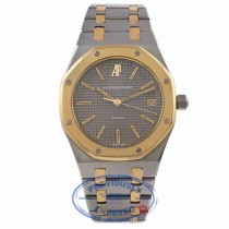 Audemars Piguet Royal Oak 36MM Grey Dial Stainless Steel 18k Yellow Gold 4100SA.0.0477SA.01 39W00N - Beverly Hills Watch Company Watch Store