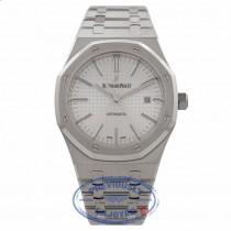 Audemars Piguet Royal Oak Stainless Steel Silver Textured Dial 15400ST.OO.1220ST.02 EIIEUC - Beverly Hills Watch Company Watch Store
