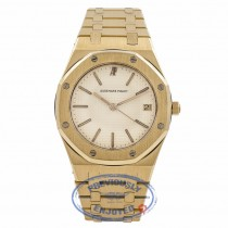 Audemars Piguet Royal Oak Yellow Gold White Dial 36MM APRO36MMYGQTZ ITC4PF - Beverly Hills Watch Company Watch Store