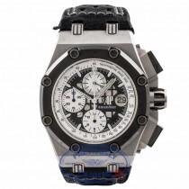 Audemars Piguet Royal Oak Offshore Ruben's Barrichello II Limited Edition 44MM Titanium with Ceramic Bezel 26078IO.OO.D001VS.01 H51QK4 - Beverly Hills Watch Store