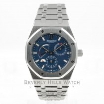 Audemars Piguet Royal Oak Dual Time Stainless Steel Blue Dial Watch 26120ST.OO.1220ST.02 Beverly Hills Watch Company Watches