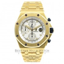 Audemars Piguet Royal Oak Offshore Chronograph 44mm White Dial 18K YellowGold Watch 25721BA.OO.1000BA.03 Beverly Hills Watch Company Watches