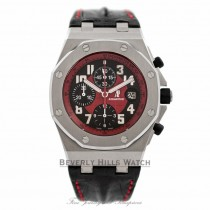 Audemars Piguet Royal Oak Offshore Stainless Steel Case 44mm Masato Black/Red Dial Limited Edition Watch 26195ST.OO.D101CR.01 Beverly Hills Watch Company Watches