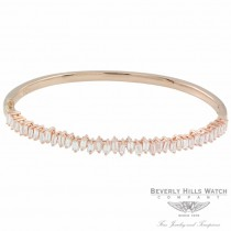 Naira & C Diamond Baguette Bangle Bracelet Rose Gold 46PV2M - Beverly Hills Jewelry Store