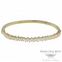 Naira & C Diamond Baguette Bracelet Yellow Gold RMNXKK - Beverly Hills Jewelry Store