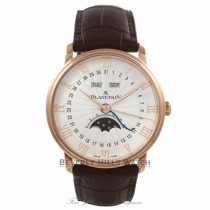 BlancPain Villeret Calendar Moonphase 40MM 72 Hour Power Reserve 18k Rose Gold 6664-3642-55B AHXUL2