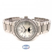 Blancpain Leman 34mm Ladies Moonphase Complete Calendar Diamond Watch 2360-4691a-71 UM5CWD - Beverly Hills Watch Company
