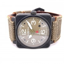 """Bell & Ross BR03-92 Military Type """"GI Joe"""" Edition BR0392-MIL-CE - Beverly Hills Watch Company"""