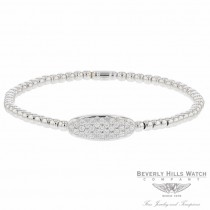 Naira & C 18k White Gold Stretch Oval Shape Diamonds Bracelet 5UHHZZ - Beverly Hills Jewelry Store