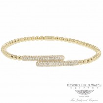 Naira & C 18k Yellow Gold stretch Cross Over Diamond Bracelet OM-PLI026/300/B TPA5K3 - Beverly Hills Jewelry Company