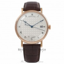 Breguet Classique 38MM Silver Dial Automatic 18k Rose Gold Brown Alligator Strap 5177BR/12/9V6 92DWKP - Beverly Hills Watch Company Watch Store