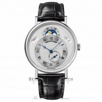 Breguet Classique Silver Dial 18kt White Gold Black Leather 39mm 7337BB/1E/9V6 MEV77P - Beverly Hills Watch