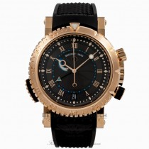 Breguet Marine Royale Alarm 18k Rose Gold Black Rhodium Dial 5847BR.Z25ZV P66RK4 - Beverly Hills Watch Company Watch Store