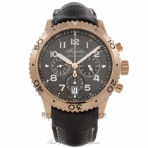Breguet Transatlantique Type XXI Flyback Chronograph 42mm 18k Rose Gold Ruthenium Dial 3810BR/929/Z WVH4FH - Beverly Hills Watch Company Watch Store