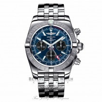 Breitling Chronomat 44 GMT Stainless Steel  Blue Dial Automatic AB042011/C852 8477DA - Beverly Hills Watch Company Watch Store