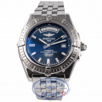 Breitling Headwind Stainless Steel Blue Dial A45355 GPTXVV - Beverly Hills Watch Company Watch Store