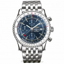 Breitling Navitimer World 46MM Chronograph Blue Dial A2432212/C651 1FKB4Q - Beverly Hills Watch Company Watch Store