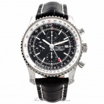 Breitling Navitimer World Stainless Steel Black Dial A2432212/B726 2KQW1Q - Beverly Hills Watch Company Watch Store