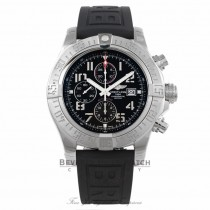 Breitling Super Avenger II 48MM Stainless Steel Black Dial Automatic Black Rubber Strap A1337111/BC28 V3AWM9 - Beverly Hills Watch Company Watch Store