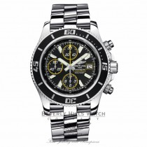 Breitling Superocean Chronograph II Stainless Steel Abyss Yellow Second Hand A13341A8/BA82 2NTTLJ - Beverly Hills Watch Company Watch Store