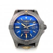 Breitling Avenger Blackbird Black Titanium 48mm Blue Dial V173104A/CA23/100W RKY5WZ - Beverly Hills Watch Company