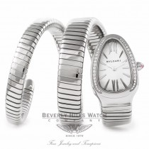 Bulgari Serpenti Stainless Steel Double Wrap SP35C6SDS.2T HA4E4U - Beverly Hills Watch Company Watch Store