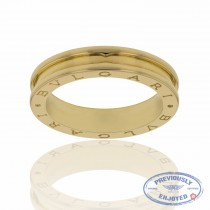 Bulgari B Zero Ring 1 Band 18k Yellow Gold Gents AN852260 80VHT1 - Beverly Hills Jewelry Store