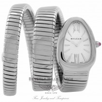 Bvlgari Serpenti Stainless Steel Silver Dial SP35C6SS.2T 8FJ4PD - Beverly Hills Watch Company