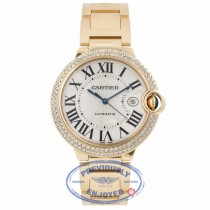 Cartier Ballon Bleu Large 18k Yellow Gold Diamond Bezel WE9007Z3 TTZT1C - Beverly Hills Watch Company Watch Store