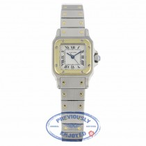 Cartier Santos Galbee 24mm Ladies Stainless Steel 18k Yellow Gold JR1MF9 - Beverly Hills Watch Company