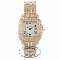 Cartier Panther 18K Yellow Gold Diamond Bezel and Case 02154 EHPACR - Beverly Hills Watch Company Watch Store